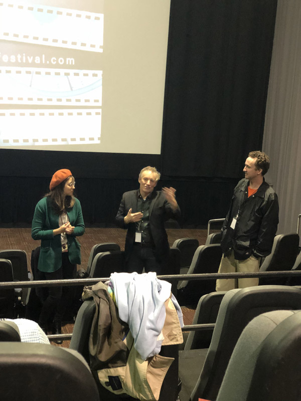 Curtis Fortier at the Q&A at the 2019 Culver City Film Festival